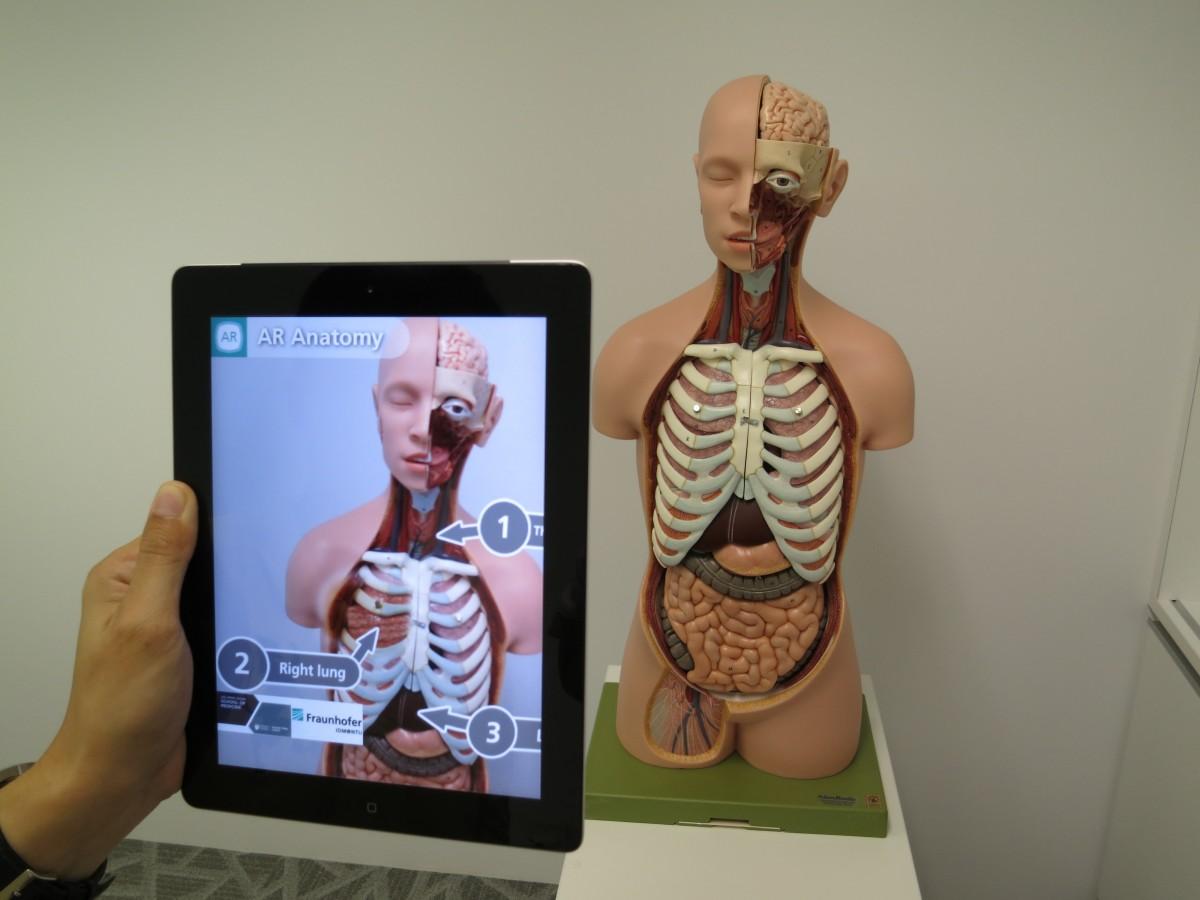 ar di sekolah untuk belajar anatomi